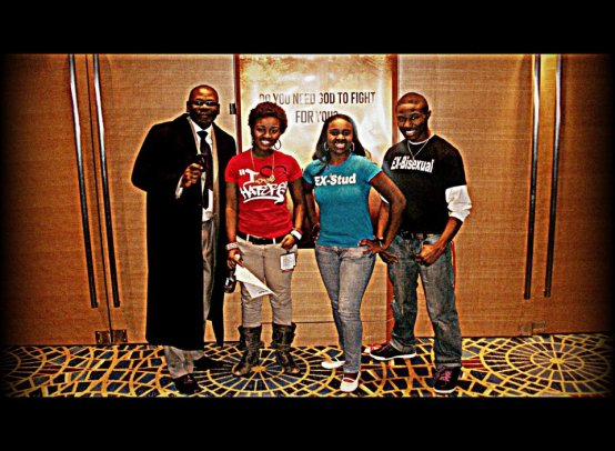 Pastor DL Foster, Jackie Hill, Brittany Ursery